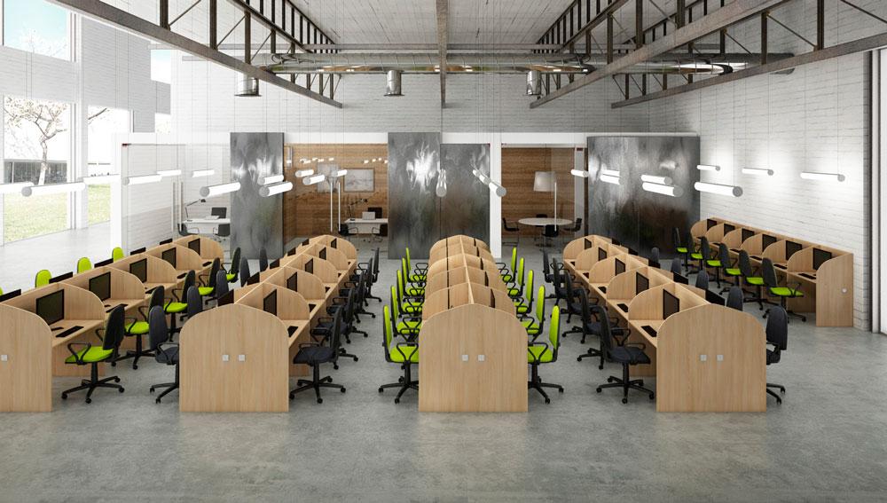 Call centre t cnica de oficina for Muebles de oficina iman